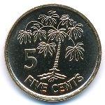 Сейшелы, 5 центов (2007–2012 г.)