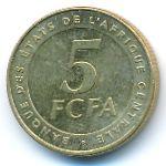 Центральная Африка, 5 франков КФА (2006 г.)