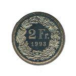 Швейцария, 2 франка (1993 г.)