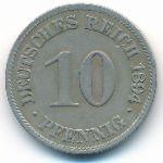 Германия, 10 пфеннигов (1894 г.)