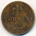 Неаполь и Сицилия, 10 торнеси (1859 г.)