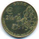 Европа, 2 1/2 евро (1997 г.)
