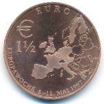 Европа, 1 1/2 евро (1997 г.)