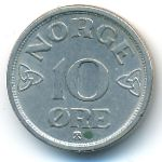 Норвегия, 10 эре (1954 г.)