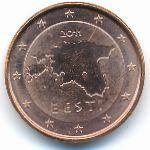 Эстония, 1 евроцент (2011 г.)