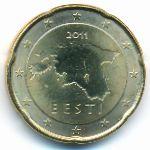 Эстония, 20 евроцентов (2011 г.)