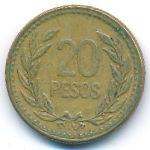 Колумбия, 20 песо (1990 г.)
