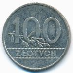 Польша, 100 злотых (1990 г.)