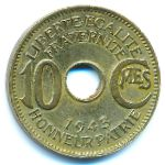French Equatorial Africa, 10 centimes, 1943