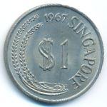 Сингапур, 1 доллар (1967 г.)