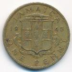 Ямайка, 1 пенни (1938–1947 г.)