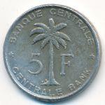 Руанда-Урунди, 5 франков (1958 г.)