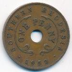 Южная Родезия, 1 пенни (1952 г.)