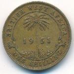 Британская Западная Африка, 1 шиллинг (1951 г.)
