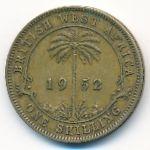 Британская Западная Африка, 1 шиллинг (1952 г.)