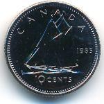 Канада, 10 центов (1985 г.)