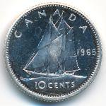 Канада, 10 центов (1965 г.)