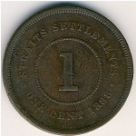 Straits Settlements, 1 cent, 1887–1901