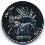 Кокосовые острова, 20 центов (2004 г.)