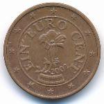 Австрия, 1 евроцент (2002–2013 г.)