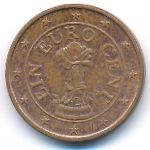 Австрия, 1 евроцент (2002–2019 г.)