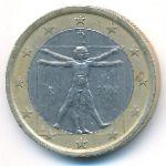 Италия, 1 евро (2002–2004 г.)