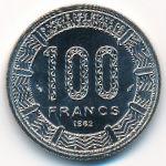 Чад, 100 франков (1982 г.)