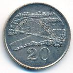 Зимбабве, 20 центов (1983 г.)