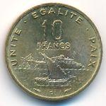 Джибути, 10 франков (1983 г.)