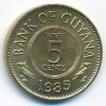 Гайана, 5 центов (1985–1991 г.)