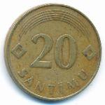 Латвия, 20 сантим (1992 г.)