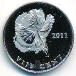 Остров Бонайре, 5 центов (2011 г.)