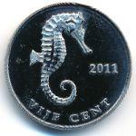Синт-Эстатиус, 5 центов (2011 г.)