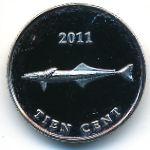 Синт-Эстатиус, 10 центов (2011 г.)