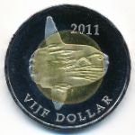 Синт-Эстатиус, 5 долларов (2011 г.)