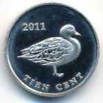 Остров Саба, 10 центов (2011 г.)