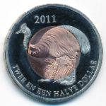 Остров Саба, 2 1/2 доллара (2011 г.)