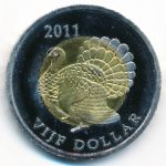 Остров Саба, 5 долларов (2011 г.)