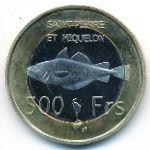 Сен-Пьер и Микелон, 500 франков (2013 г.)