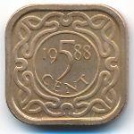 Суринам, 5 центов (1988 г.)