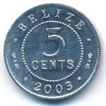 Белиз, 5 центов (2003 г.)
