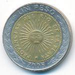 Аргентина, 1 песо (2008 г.)