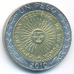 Аргентина, 1 песо (2010 г.)