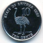 Эритрея, 10 центов (1997 г.)