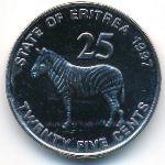 Эритрея, 25 центов (1997 г.)