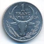 Мадагаскар, 1 франк (1993 г.)