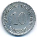 Германия, 10 пфеннигов (1900 г.)
