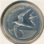 Saint Helena Island and Ascension, 1 pound, 1984