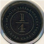 Straits Settlements, 1/4 cent, 1884