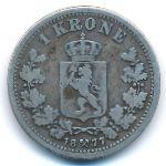Норвегия, 1 крона (1877 г.)